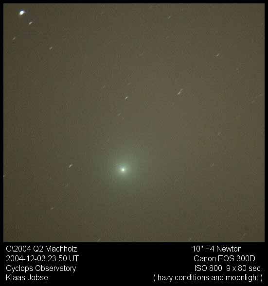 Komeet Machholz door Klaas Jobse